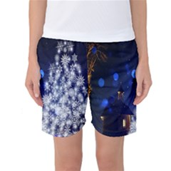 Christmas Card Christmas Atmosphere Women s Basketball Shorts