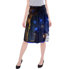Christmas Card Christmas Atmosphere Midi Beach Skirt