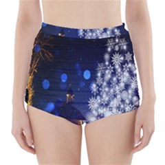Christmas Card Christmas Atmosphere High Waisted Bikini Bottoms
