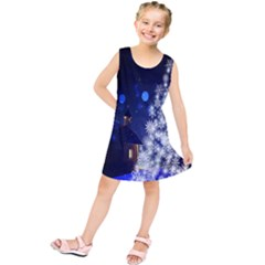 Christmas Card Christmas Atmosphere Kids  Tunic Dress