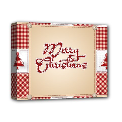 Christmas xmas Patterns Pattern Deluxe Canvas 14  x 11