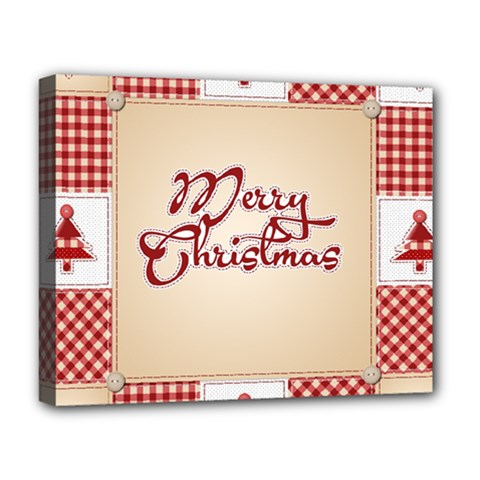 Christmas xmas Patterns Pattern Deluxe Canvas 20  x 16