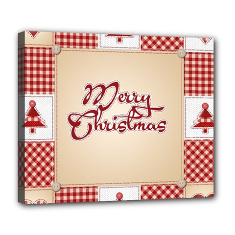 Christmas xmas Patterns Pattern Deluxe Canvas 24  x 20