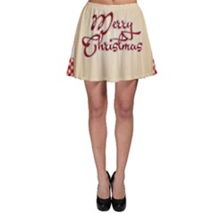 Christmas Xmas Patterns Pattern Skater Skirt