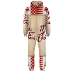 Christmas Xmas Patterns Pattern Hooded Jumpsuit (men)
