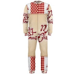 Christmas Xmas Patterns Pattern Onepiece Jumpsuit (men)