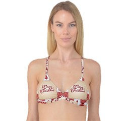 Christmas xmas Patterns Pattern Reversible Tri Bikini Top
