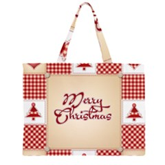 Christmas xmas Patterns Pattern Large Tote Bag