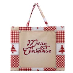 Christmas xmas Patterns Pattern Zipper Large Tote Bag