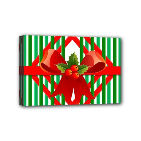 Christmas Gift Wrap Decoration Red Mini Canvas 6  x 4