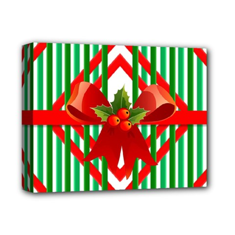Christmas Gift Wrap Decoration Red Deluxe Canvas 14  X 11