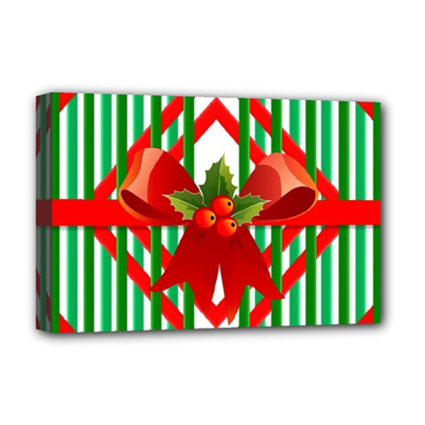 Christmas Gift Wrap Decoration Red Deluxe Canvas 18  x 12