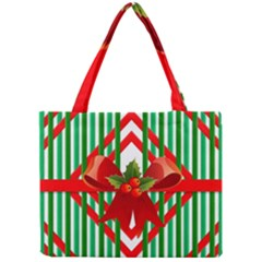 Christmas Gift Wrap Decoration Red Mini Tote Bag