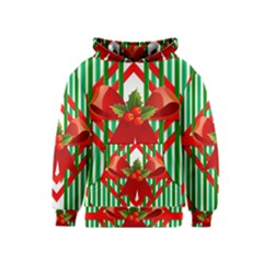 Christmas Gift Wrap Decoration Red Kids  Pullover Hoodie