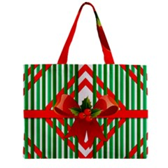 Christmas Gift Wrap Decoration Red Zipper Mini Tote Bag