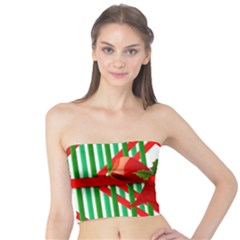 Christmas Gift Wrap Decoration Red Tube Top