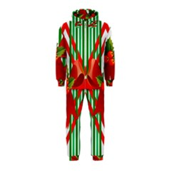Christmas Gift Wrap Decoration Red Hooded Jumpsuit (kids)