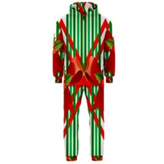 Christmas Gift Wrap Decoration Red Hooded Jumpsuit (Men)