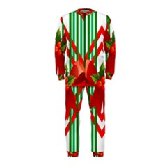 Christmas Gift Wrap Decoration Red OnePiece Jumpsuit (Kids)