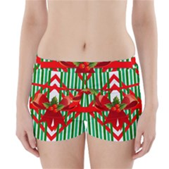 Christmas Gift Wrap Decoration Red Boyleg Bikini Wrap Bottoms
