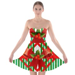 Christmas Gift Wrap Decoration Red Strapless Bra Top Dress