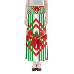 Christmas Gift Wrap Decoration Red Maxi Skirts