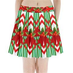 Christmas Gift Wrap Decoration Red Pleated Mini Skirt