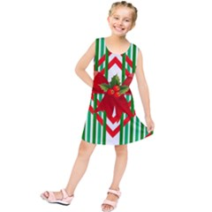 Christmas Gift Wrap Decoration Red Kids  Tunic Dress