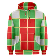 Christmas Fabric Textile Red Green Men s Pullover Hoodie