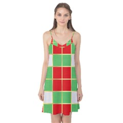 Christmas Fabric Textile Red Green Camis Nightgown