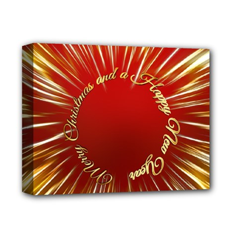 Christmas Greeting Card Star Deluxe Canvas 14  x 11