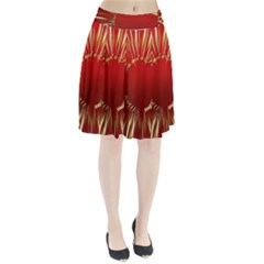 Christmas Greeting Card Star Pleated Skirt