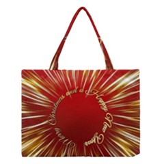 Christmas Greeting Card Star Medium Tote Bag
