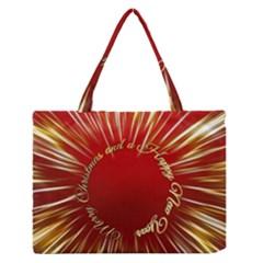 Christmas Greeting Card Star Medium Zipper Tote Bag