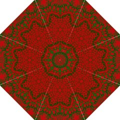 Christmas Kaleidoscope Art Pattern Straight Umbrellas