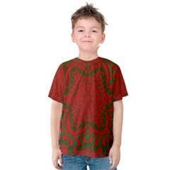Christmas Kaleidoscope Art Pattern Kids  Cotton Tee