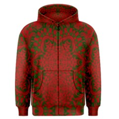 Christmas Kaleidoscope Art Pattern Men s Zipper Hoodie