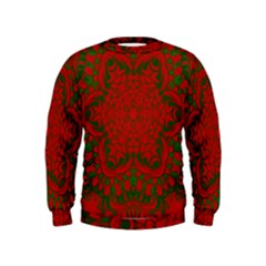 Christmas Kaleidoscope Art Pattern Kids  Sweatshirt