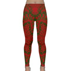 Christmas Kaleidoscope Art Pattern Classic Yoga Leggings