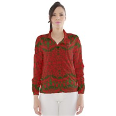 Christmas Kaleidoscope Art Pattern Wind Breaker (women)