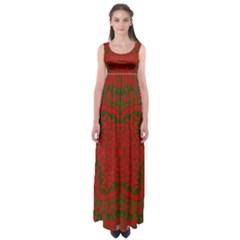 Christmas Kaleidoscope Art Pattern Empire Waist Maxi Dress