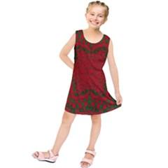 Christmas Kaleidoscope Art Pattern Kids  Tunic Dress