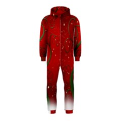 Christmas Modern Day Snow Star Red Hooded Jumpsuit (kids)