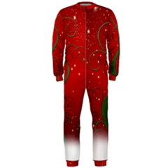Christmas Modern Day Snow Star Red OnePiece Jumpsuit (Men)