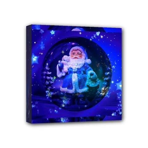 Christmas Nicholas Ball Mini Canvas 4  X 4