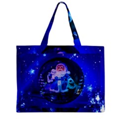 Christmas Nicholas Ball Zipper Mini Tote Bag