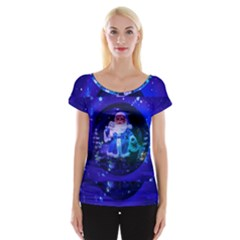 Christmas Nicholas Ball Women s Cap Sleeve Top