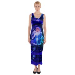 Christmas Nicholas Ball Fitted Maxi Dress