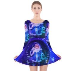 Christmas Nicholas Ball Long Sleeve Velvet Skater Dress