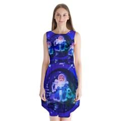 Christmas Nicholas Ball Sleeveless Chiffon Dress